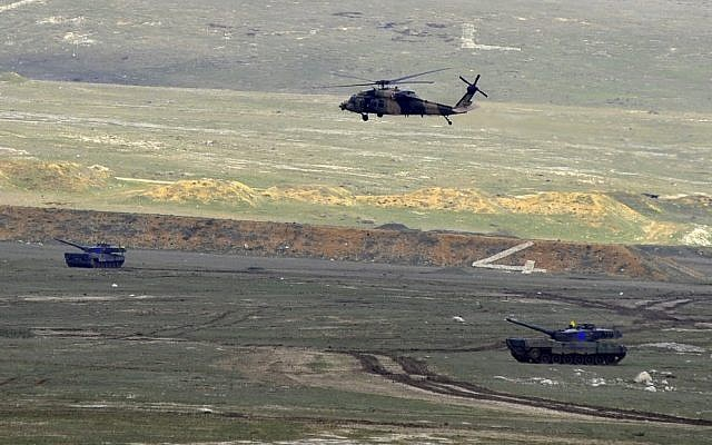 Illustrative photo of a Turkish military helicopter (photo credit: Wikimedia Commons/Turkish Armed Forces)