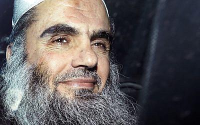 Omar Mahmoud Mohammed Othman aka Abu Qatada (photo credit: AP/Matt Dunham, File)