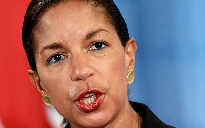 US National Security Advisor Susan Rice (photo credit: AP/Craig Ruttle/File)
