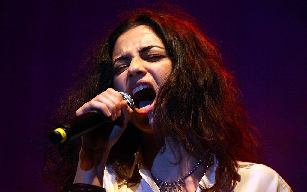 Ninet Tayeb performing in 2010. (photo credit: Abir Sultan/Flash90)