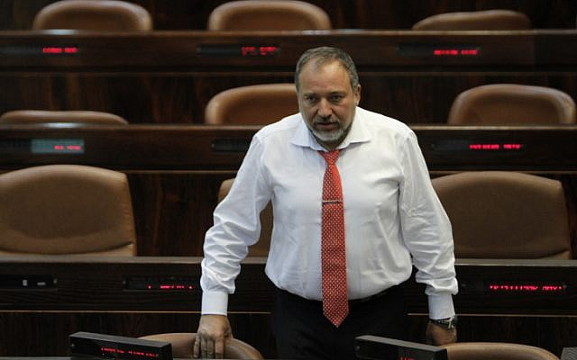 Israel's Foreign Mnister Avigdor Liberman attends a plenum session in the assembly hall of the Israeli parliament on May 30, 2011. (photo credit: Miriam Alster/FLASH90)