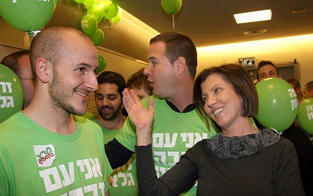 Meretz leader Zahava Gal-On after winning a sweeping victory in the party's leadership primary in February 2012 (photo credit: Gideon Markowicz/Flash90)