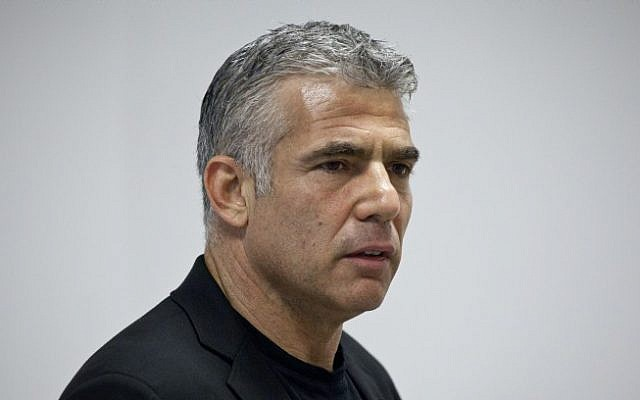 Yesh Atid leader Yair Lapid (photo credit: Yonatan Sindel/Flash90)