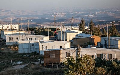 Illustrative photo of the West Bank outpost of Amona (Noam Moskowitz/Flash90)