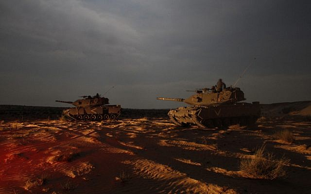 IDF tanks conducting a training maneuver in June 2012. (photo credit: Ofer Zidon/Flash90)