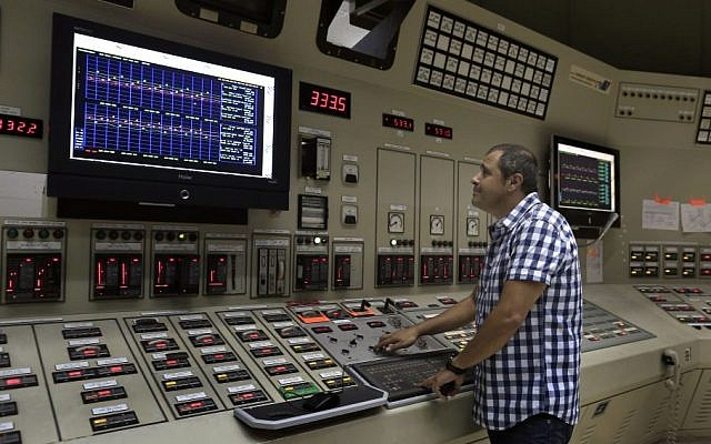 An illustrative photo of an electricity company control room. US officials claim malicious cyber attacks on US gas, oil, and electricity installations have been traced to Iran. ( Tsafrir Abayov/Flash90)