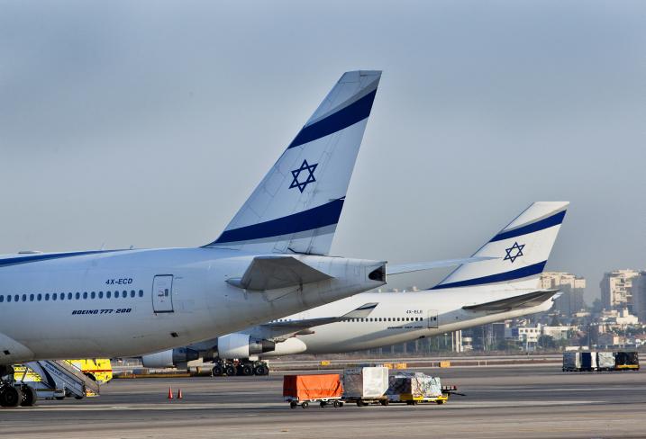 Airplanes seen at the Ben Gurion International Airport, August 14, 2012 (photo credit: Moshe Shai/FLASH90)