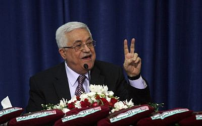 Palestinian Authority President Mahmoud Abbas speaking in Ramallah on October 13, 2012 (photo credit: Issam Rimawi/Flash90)