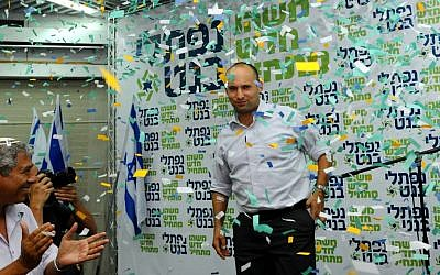 Naftali Bennett emerged victorious in the primary for the leadership of the Jewish Home party late Tuesday, November 7, 2012 (photo credit: Yossi Zeliger/Flash90)