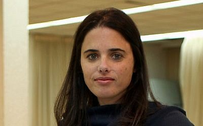 Ayelet Shaked (photo credit: Gidon Markowicz/Flash90)