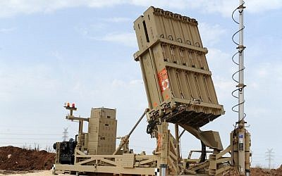 The Iron Dome battery that was deployed to central Israel on Saturday (photo credit: Alon Besson/Ministry of Defense/Flash90)