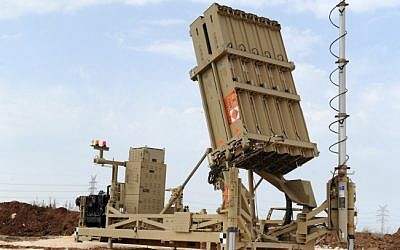 An Iron Dome battery placed in the Tel Aviv area on November 17, 2012 during Operation Pillar of Defense (photo credit: Alon Besson/Ministry of Defense/Flash90)