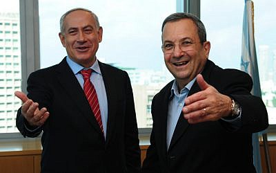 Benjamin Netanyahu and Ehud Barak. (Kobi Gideon/GPO/Flash90)