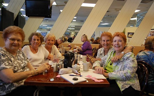 Five Jewish women at the Bagel Tree cafe in Delray Beach said they firmly support President Obama's re-election. (Ben Harris/JTA)