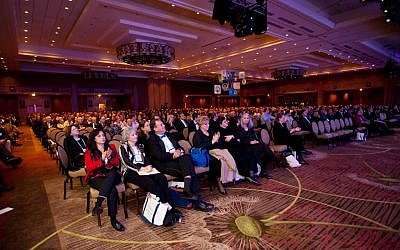 Illustrative: a Jewish Federations of North America General Assembly conference. (Eric Stephenson for JFNA via JTA)