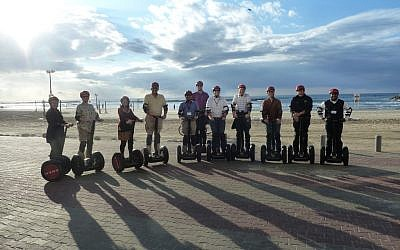 A delegation of US officials visiting Israel last week took a tour of Tel Aviv riding Segways. (photo credit: courtesy Project Interchange)
