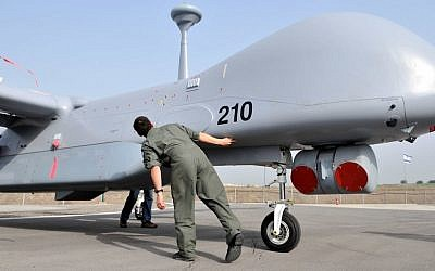 An Israeli 'Ethan' drone, in the service of the Israeli Air Force (Yossi Zeliger/Flash90)