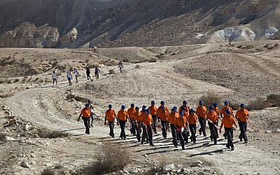 During last year's David Ben-Gurion Walk (Courtesy M.A. Ramat HaNegev)