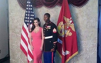Kim Kardashian supporting the troops at the Marine Corps Ball (Courtesy Kim Kardashian, Instagram)