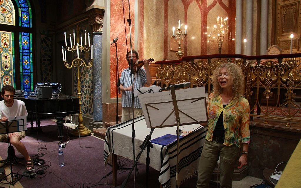 "Lenka Lichtenberg recorded ""Songs for the Breathing Walls"" at a dozen Jewish prayer houses in the Czech Republic, including the Jeruzalemska synagogue in Prague. (Courtesy of Romana Rysava)"