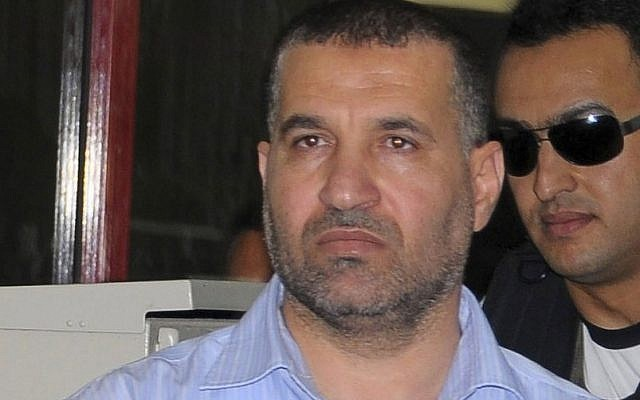 Hamas military chief Ahmed Jabari in 2011 (photo credit: AP/Khalid Farid)