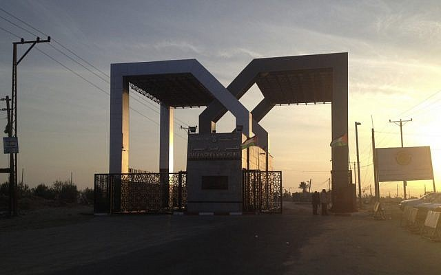 The Palestinian side of the Rafah border terminal between the Gaza Strip and Egypt. (photo credit: Sarah El Deeb/AP)
