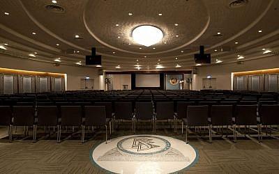 The main hall of the Scientology center in the port city of Jaffa, Tel Aviv, Nov. 7, 2012, (photo credit:AP/Ariel Schalit)