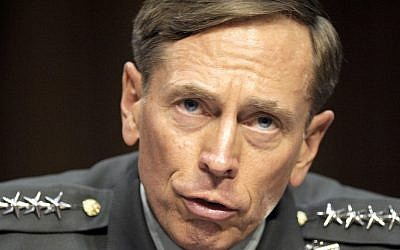 Gen. David Petraeus testifying on Capitol Hill in June 2011 after he was designated to be the director of the CIA. (photo credit: AP Photo/Cliff Owen)