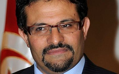 Tunisian Foreign Minister Rafik Abdessalem (photo credit: Foreign Ministry of Tunisia)