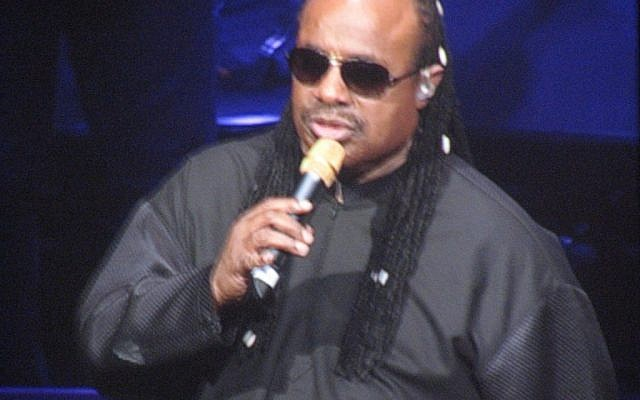 Stevie Wonder. The Grammy-winning singer's representatives cited a recommendation from the United Nations as his reason for pulling out of a Friends of the IDF fundraiser. (Photo credit: CC BY/ClareD23 via Flickr.com)