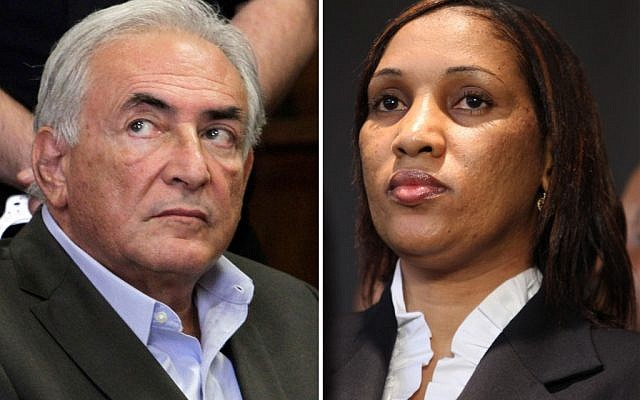 Former International Monetary Fund chief leader Dominique Strauss-Kahn, left, and Nafissatou Diallo, the New York City hotel maid who accused him of trying to rape her. (photo credit: AP)