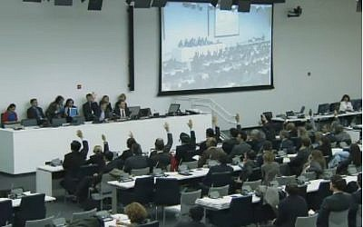 The UN Security Council meeting on Wednesday. (Screenshot: UN Webcast)