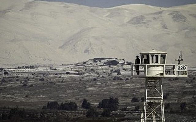 The UN observer force on the Israeli-Syrian border in the Golan Heights (photo credit: CC BY FreedomHouse/Flickr/File)