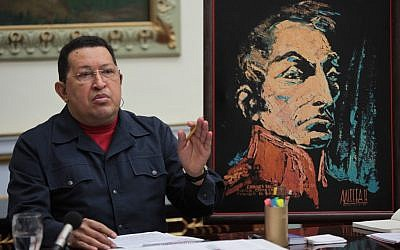 Venezuela's President Hugo Chavez speaks during a cabinet meeting at the Miraflores presidential palace in Caracas, Venezuela, Thursday, November 15, 2012. (photo credit: AP/Miraflores Presidential Press Office)