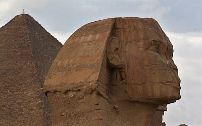 The 4,500-year-old Sphinx at Giza near Cairo. (photo credit: (Melanie Fidler/Flash90)