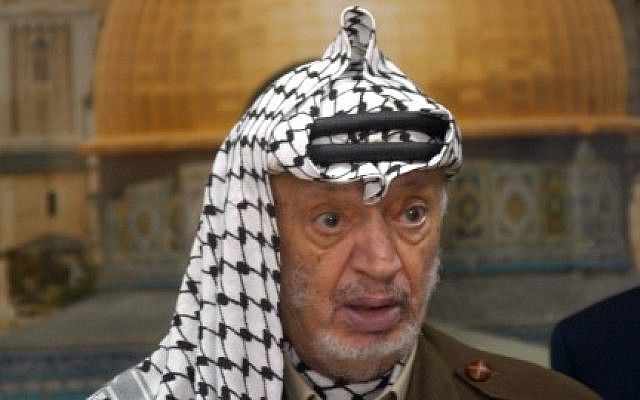 Yasser Arafat in September 2003. At the time Arafat was the head of the Palestinian Authority. (photo credit: Flash90)