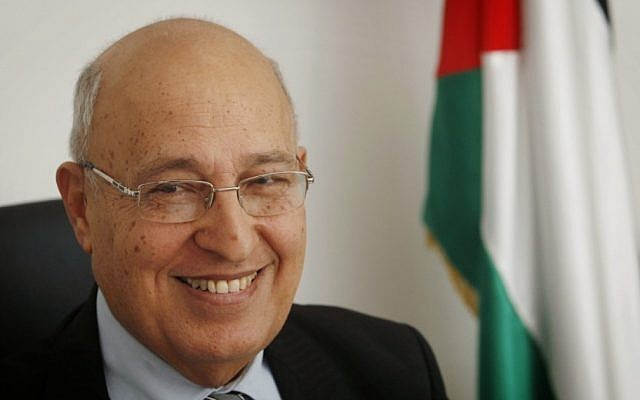 Nabil Shaath at his Ramallah office, January 18, 2012 (Miriam Alster/Flash90)