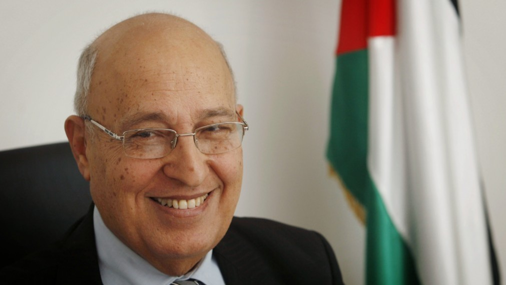 Nabil Shaath at his Ramallah office, January 18, 2012 (photo credit: Miriam Alster/Flash90)