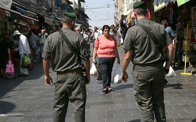 Illustrative photo of Border Police officers Jerusalem. (Nati Shohat/Flash90)