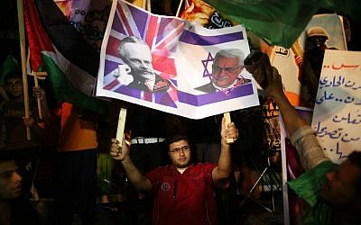 Hamas supporters attend a rally against Palestinian President Mahmoud Abbas in Gaza City November 3, 2012 (photo credit: Wissam Nassar/Flash 90)