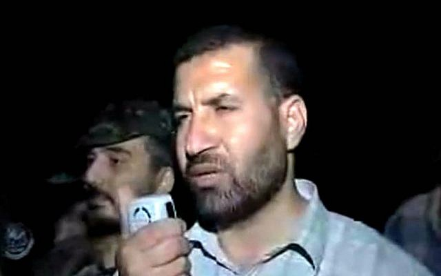 Hamas military leader Ahmed Jabari, who was assassinated in an Israeli Air Force strike in 2012 (YouTube screen capture)