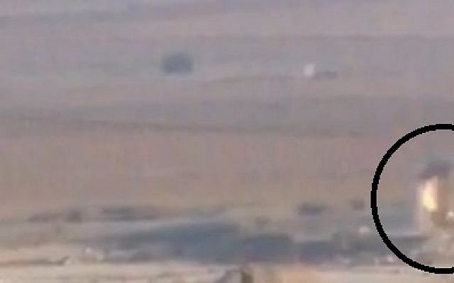 Screen capture of the Israeli jeep explosion on Saturday, November 10