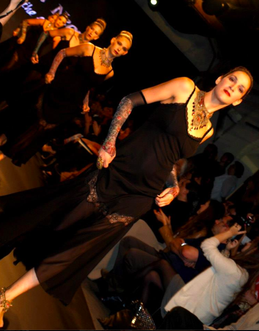 Michal Negrin's models sashaying down the runway Tuesday (Courtesy Tel Aviv Fashion Week)