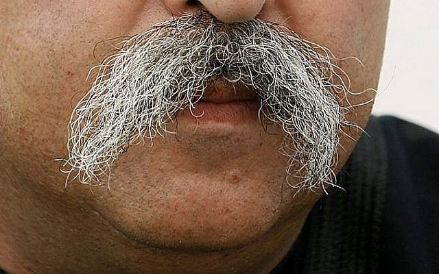 A mustache (illustrative photo credit: Moshe Shai/Flash90)