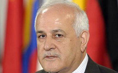 Palestinian UN envoy Riyad Mansour (photo credit: United Nations Media Center/File)