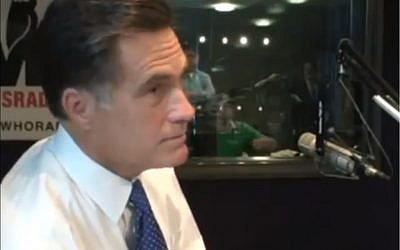 Republican presidential candidate Mitt Romney in a radio interview in 2007. (photo credit: Image capture from YouTube video uploaded by thedbartnick)