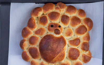 A turkey challah in all its glory (Courtesy sweethappylife.com)