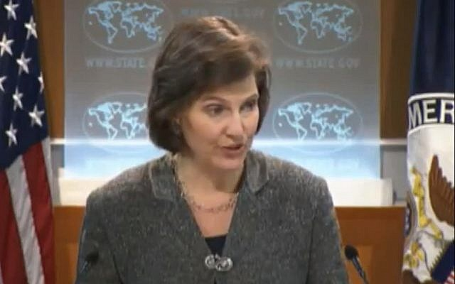US State Department Spokeswoman Victoria Nuland (photo credit: image capture from YouTube)