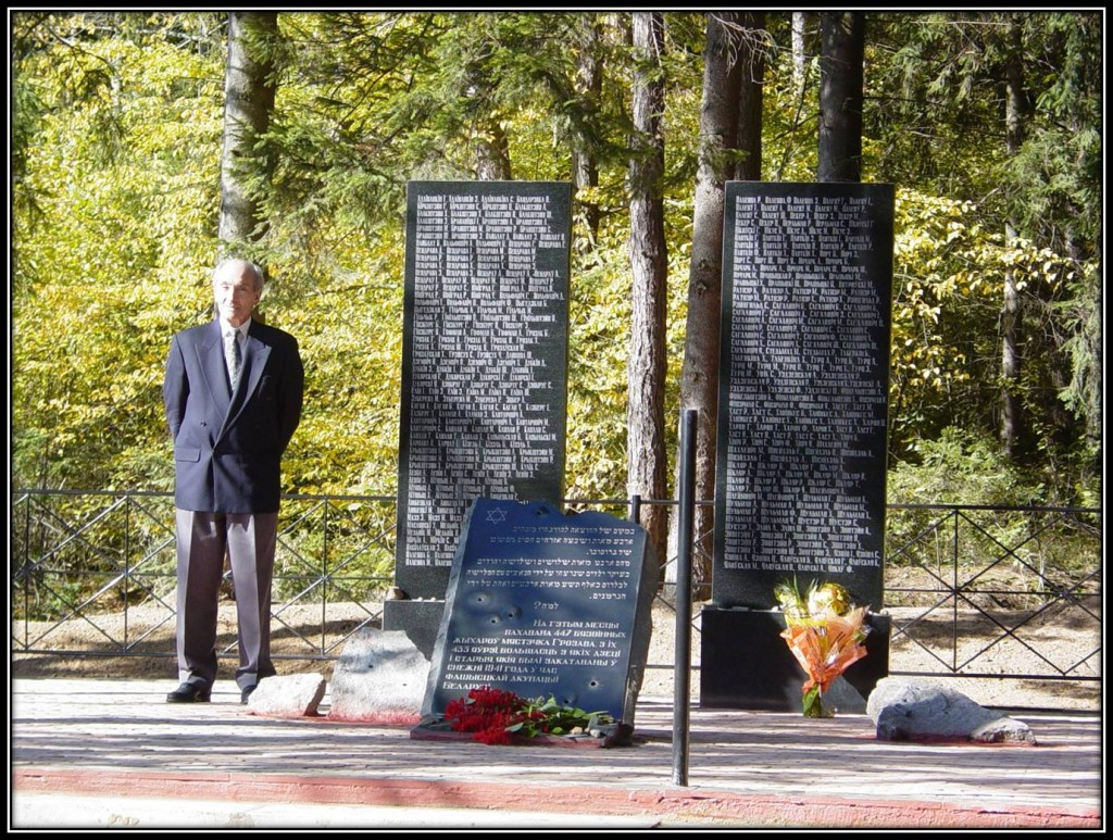 Michael Lozman initiated the creation of a memorial in Grozovo, Belarus, to Jews massacred during the Holocaust. (Courtesy of Michael Lozman)