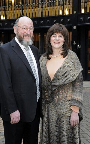 Pictured with his wife, Valerie, Mirvis will try to reverse a decline in membership within his own United Synagogue movement. (Photograph by John Rifkin)